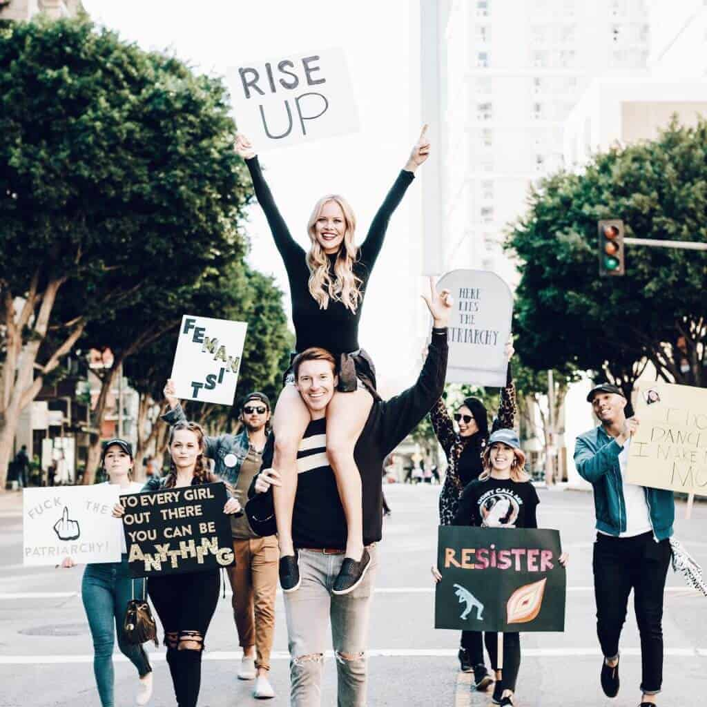 brainsoverblonde women's march power to the polls
