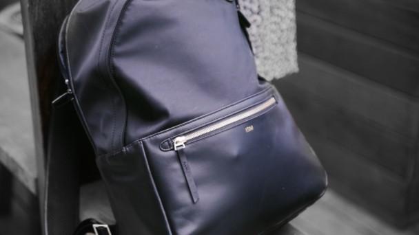 brains over blonde backpack